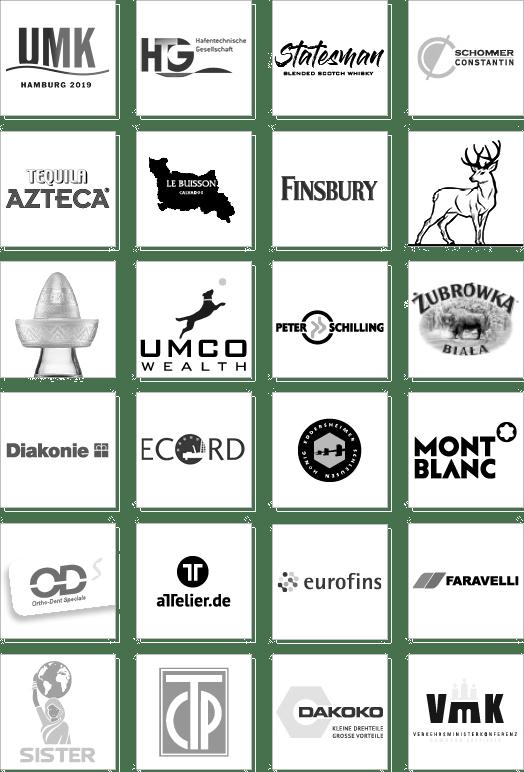 Grafiker-Kunden-Logos
